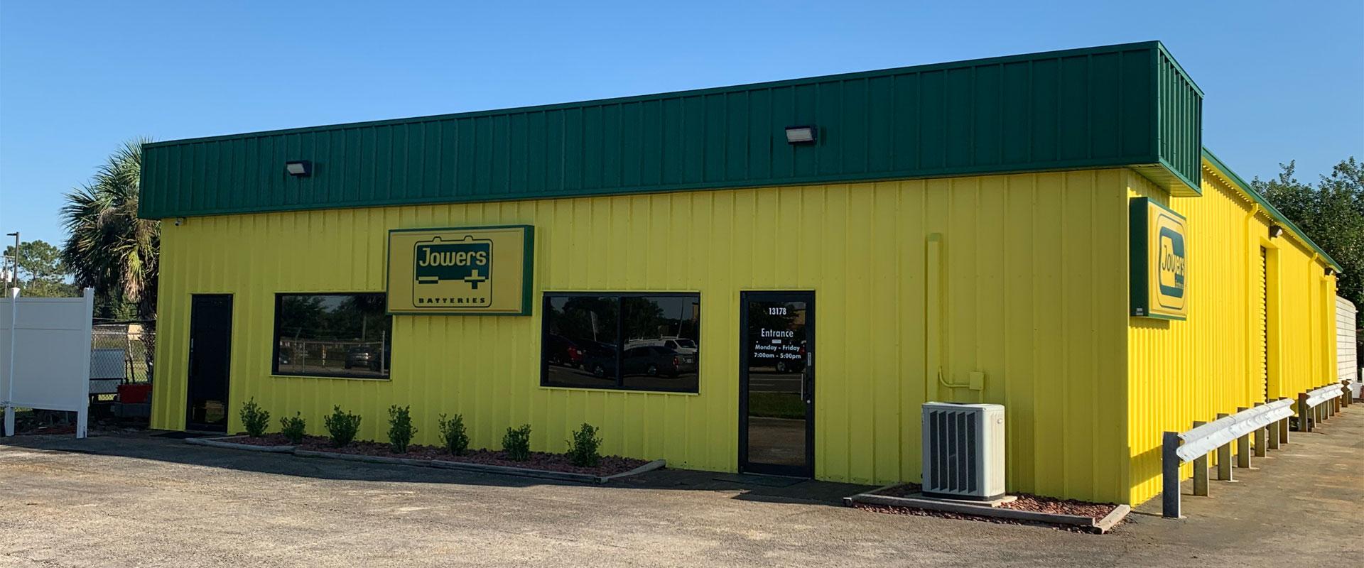 Jowers batteries building in Winter Garden, FL