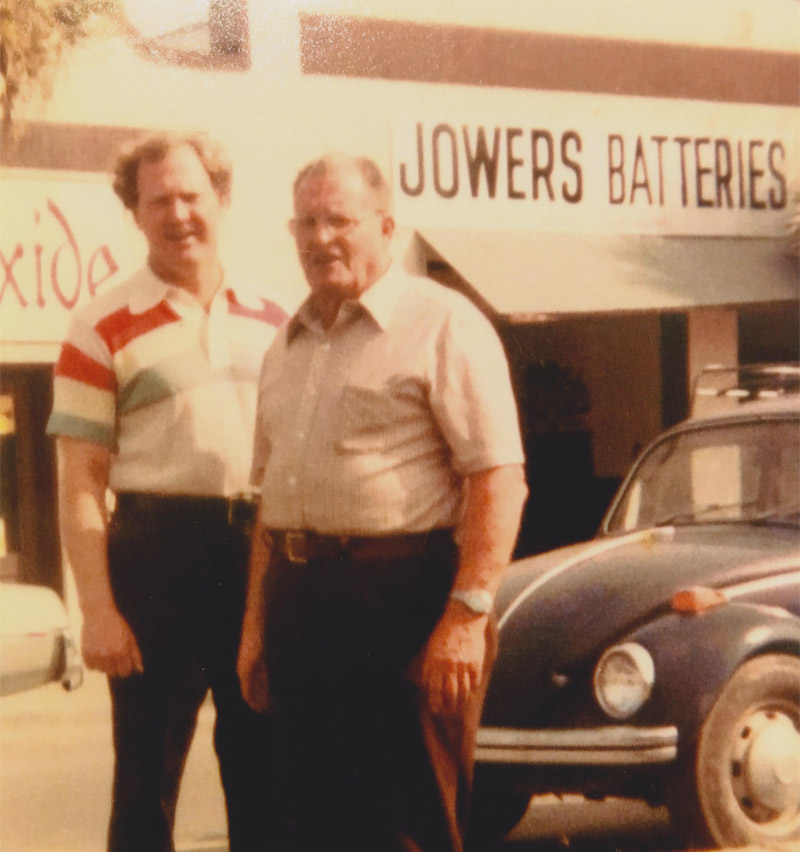 Hilliary and Gerald Jowers of Jowers Batteries